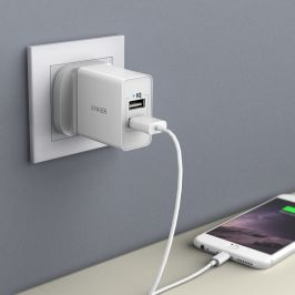 [SG Plug] Anker 24W 2-Port USB Charger with PowerIQ™