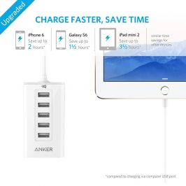 Anker PowerDrive 5 Five Port USB Car Charger