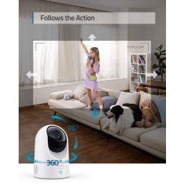Anker eufy Indoor Cam 2K Pan and Tilt Home Security Indoor Camera